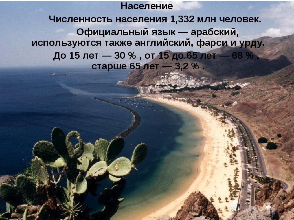 Население Численность населения 1,332 млн человек. Официальный язык—арабс...