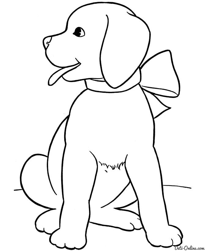 Распечатать раскраска собак