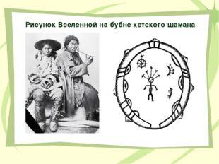 Рисунок Вселенной на бубне кетского шамана Кетский бубен имеет окаймление, ко