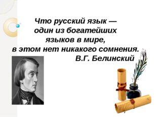 Что русский язык — один из богатейших языков в мире, в этом нет никакого сомн