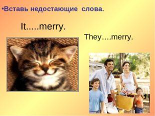 It.....merry. They….merry. Вставь недостающие слова.