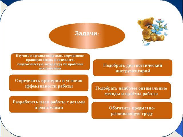 Этапы работы Изучить и проанализировать нормативно-правовую основу и психоло...
