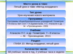 Программа: Программы общеобразовательных учреждений. Геометрия. 7-9 классы /а