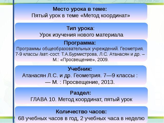 Программа: Программы общеобразовательных учреждений. Геометрия. 7-9 классы /а...