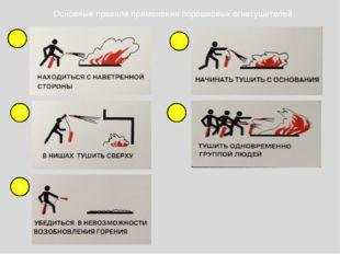 1 2 3 4 5 Основные правила применения порошковых огнетушителей