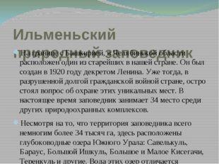 Ильменьский природный заповедник На границе с Башкирией, в Челябинской област