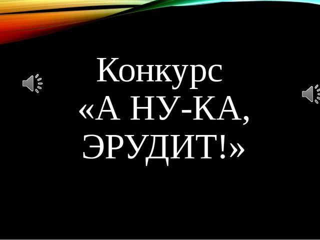 Конкурс «А НУ-КА, ЭРУДИТ!»