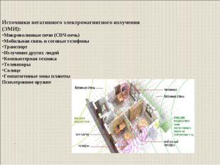 . Источники негативного электромагнитного излучения (ЭМИ): Микроволновые печи