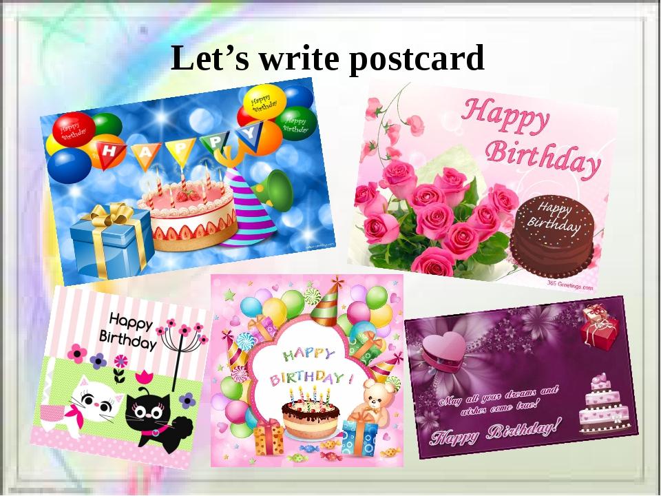 Let's write postcard
