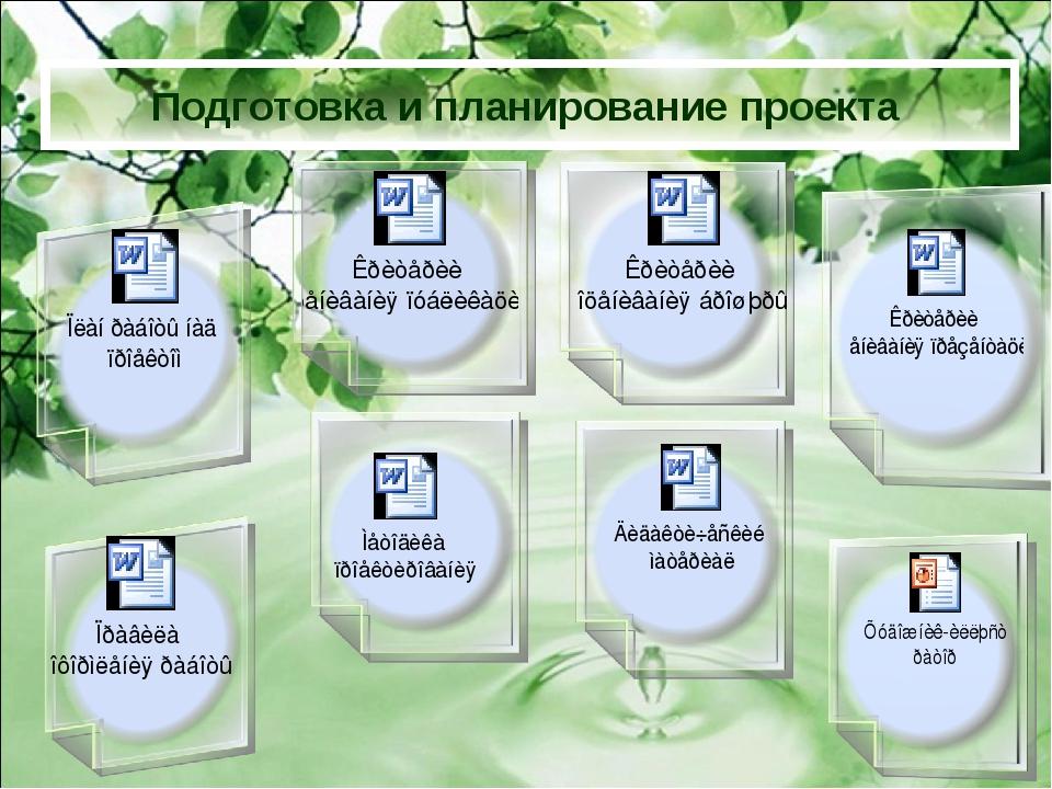 Подготовка и планирование проекта