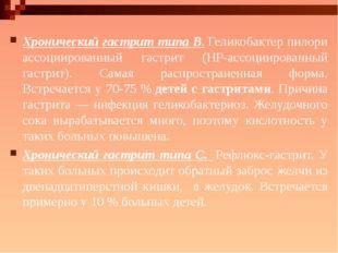 Хронический гастрит типа В.Геликобактер пилори ассоциированный гастрит (HP-