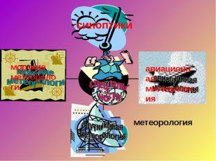 метеорология синоптики морские метеороло ги авиационная метеорология