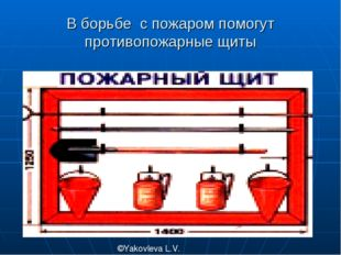 В борьбе с пожаром помогут противопожарные щиты ©Yakovleva L.V.