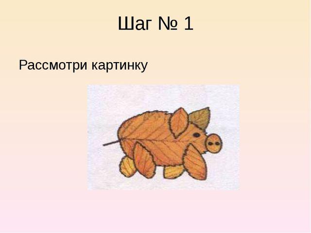 Шаг № 1 Рассмотри картинку