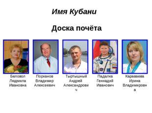 Доска почёта Беловол Людмила Ивановна Порханов Владимир Алексеевич Тыртышный