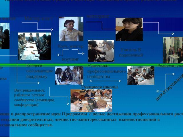 Коллеги, вовлеченные в работу и вносящие свой вклад в процесс развитие школы....