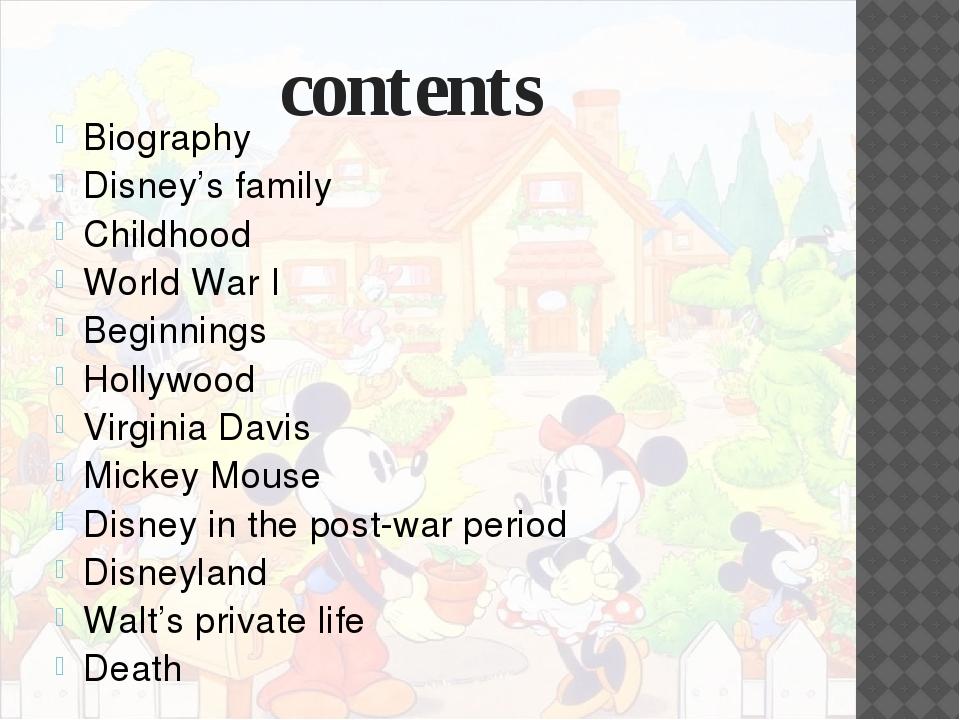 Disney's family Walter Elias Disney was born in Chicago Illinois, to his fat...