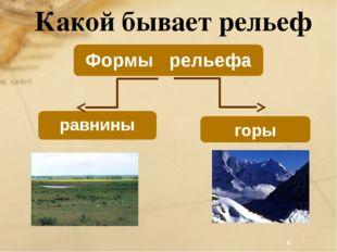 Какой бывает рельеф Формы рельефа равнины горы