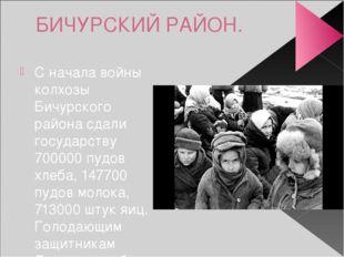 БИЧУРСКИЙ РАЙОН. С начала войны колхозы Бичурского района сдали государству 7