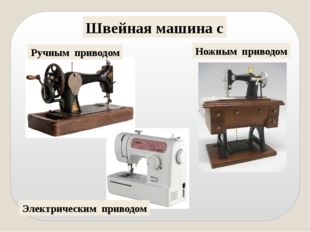 Швейная машина с Ручным приводом Ножным приводом Электрическим приводом Созда