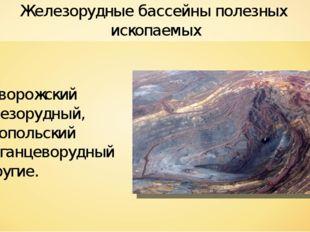 Железорудные бассейны полезных ископаемых Криворожский железорудный, Никополь