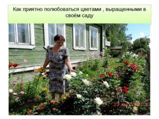 Как приятно полюбоваться цветами , выращенными в своём саду