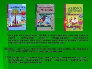 Это один из комплектов учебного книгоиздания, воплотивший в жизнь требования