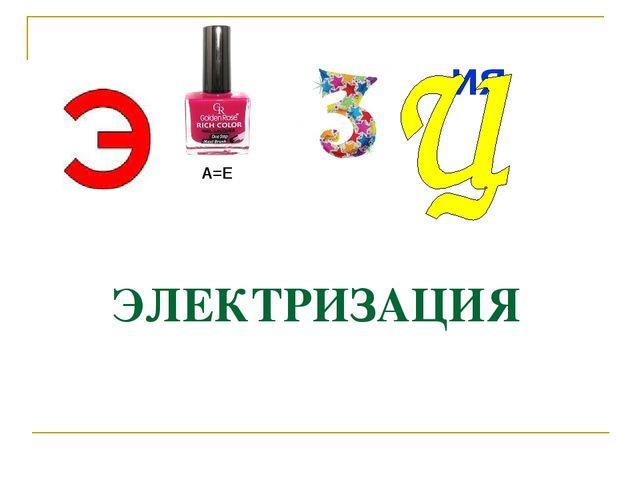 А=Е ия ЭЛЕКТРИЗАЦИЯ