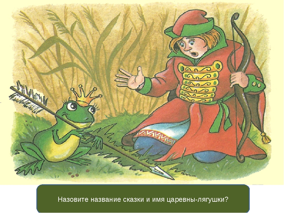Назовите название сказки и имя царевны-лягушки?