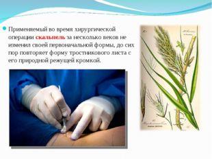 Применяемый во время хирургической операции скальпель за несколько веков не и