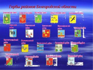Гербы районов Белгородской области