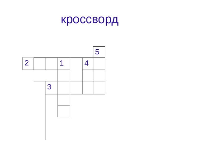 кроссворд 5 14  3     2
