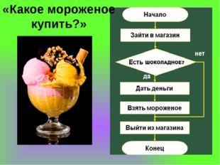 «Какое мороженое купить?»
