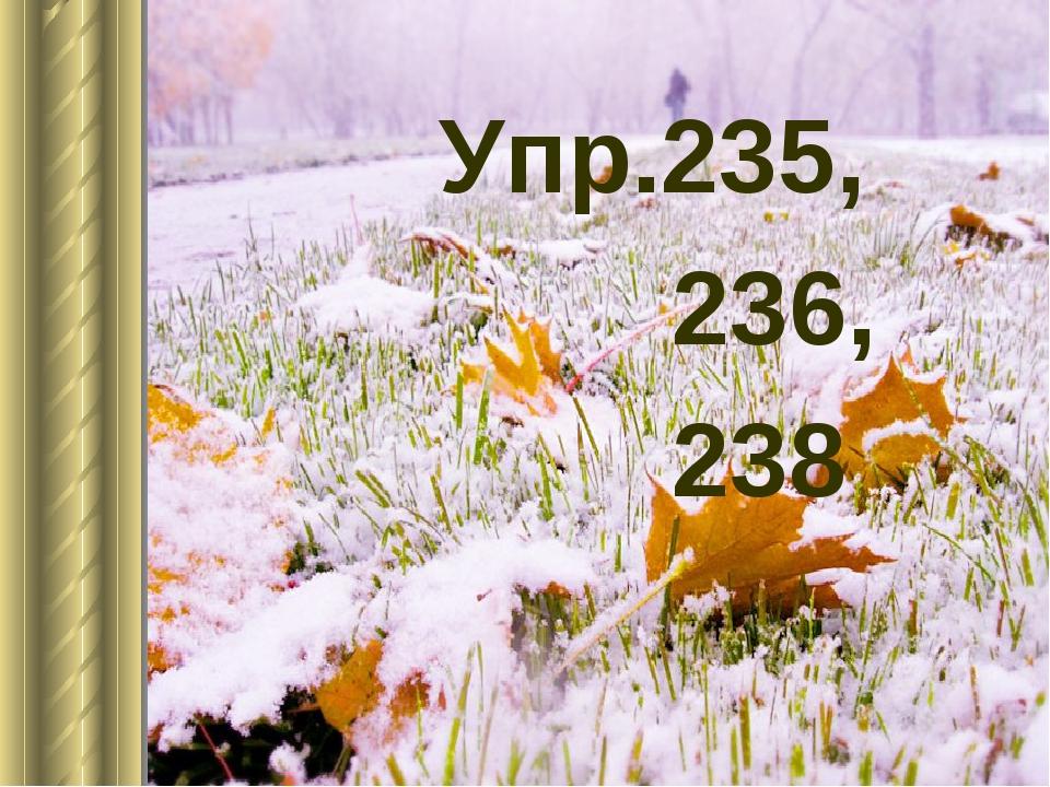 Упр.235, 236, 238