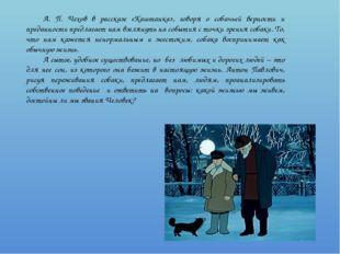 А. П. Чехов в рассказе «Каштанка», говоря о собачьей верности и преданности