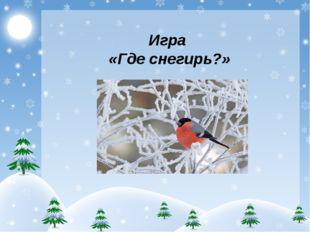 Игра «Где снегирь?»