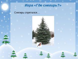 Игра «Где снегирь?» Снегирь спрятался…