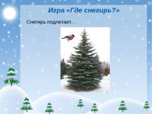 Игра «Где снегирь?» Снегирь подлетает…