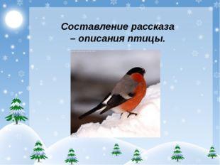 Составление рассказа – описания птицы.