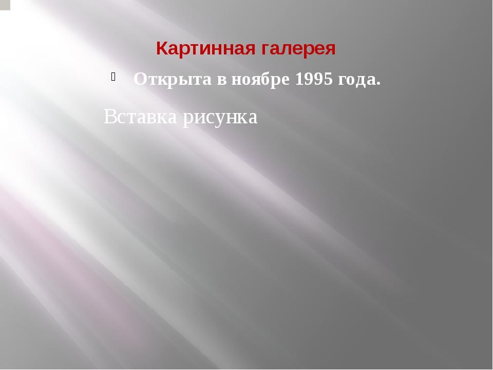 Картинная галерея Открыта в ноябре 1995 года.