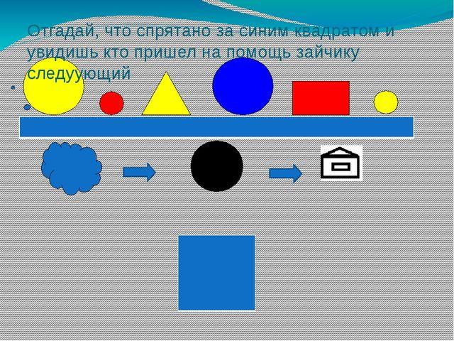 Отгадай, что спрятано за синим квадратом и увидишь кто пришел на помощь зайч...