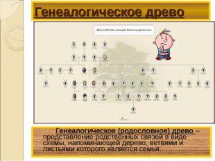Генеалогическое древо Генеалогическое (родословное) древо – представление р