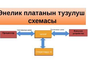 Энелик платанын тузулуш схемасы Системалык ши Системалык шина Оперативдуу эс