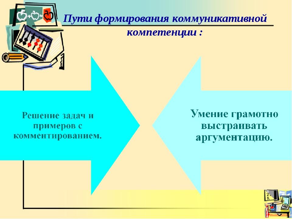 Пути формирования коммуникативной компетенции :