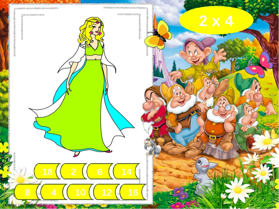 18 4 6 12 10 2 8 14 16 8 х 2 FokinaLida.75@mail.ru