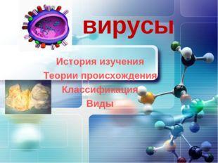 вирусы История изучения Теории происхождения Классификация Виды