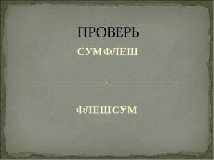 СУМФЛЕШ ФЛЕШСУМ