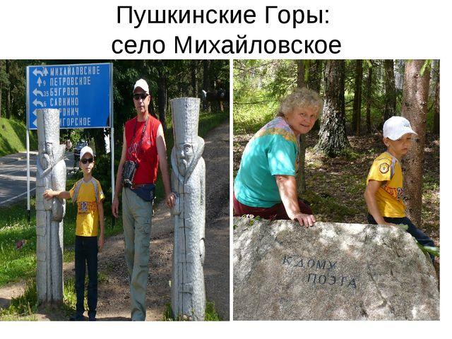 Пушкинские Горы: село Михайловское