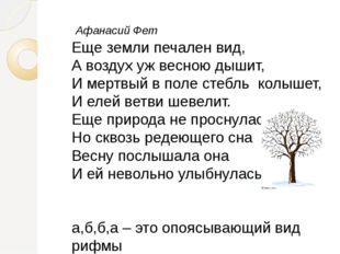 Афанасий Фет Еще земли печален вид, А воздух уж весною дышит, И мертвый в по
