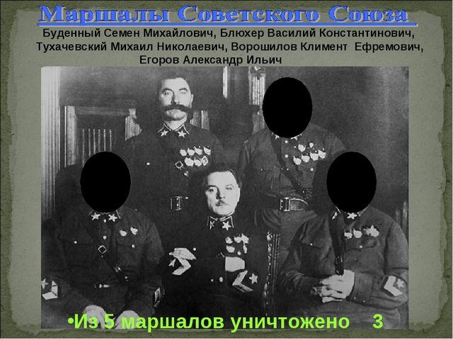 Буденный Семен Михайлович, Блюхер Василий Константинович, Тухачевский Михаил...